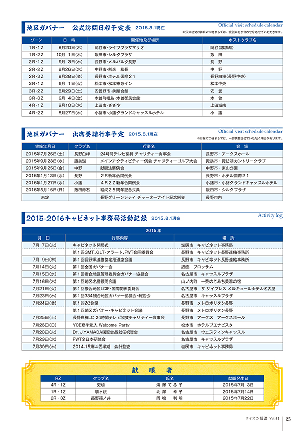 2015年8月発行 ライオン信濃第41号第1巻(その3)